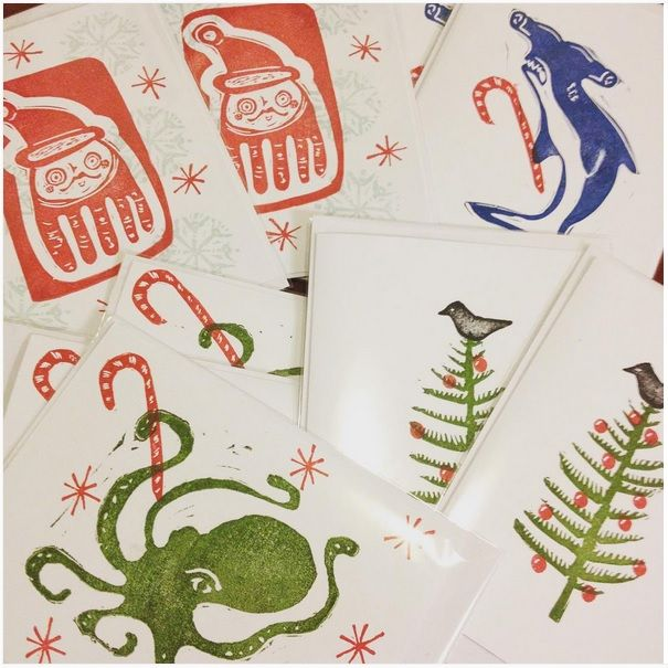 get your holiday cards! assorted designs now available in my etsy store https://www.etsy.com/shop/craftyhag
