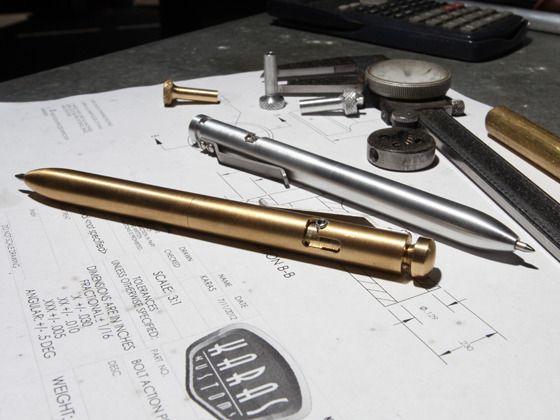 The BOLT- A Machined Bolt Action Pen by KarasKustoms — Kickstarter