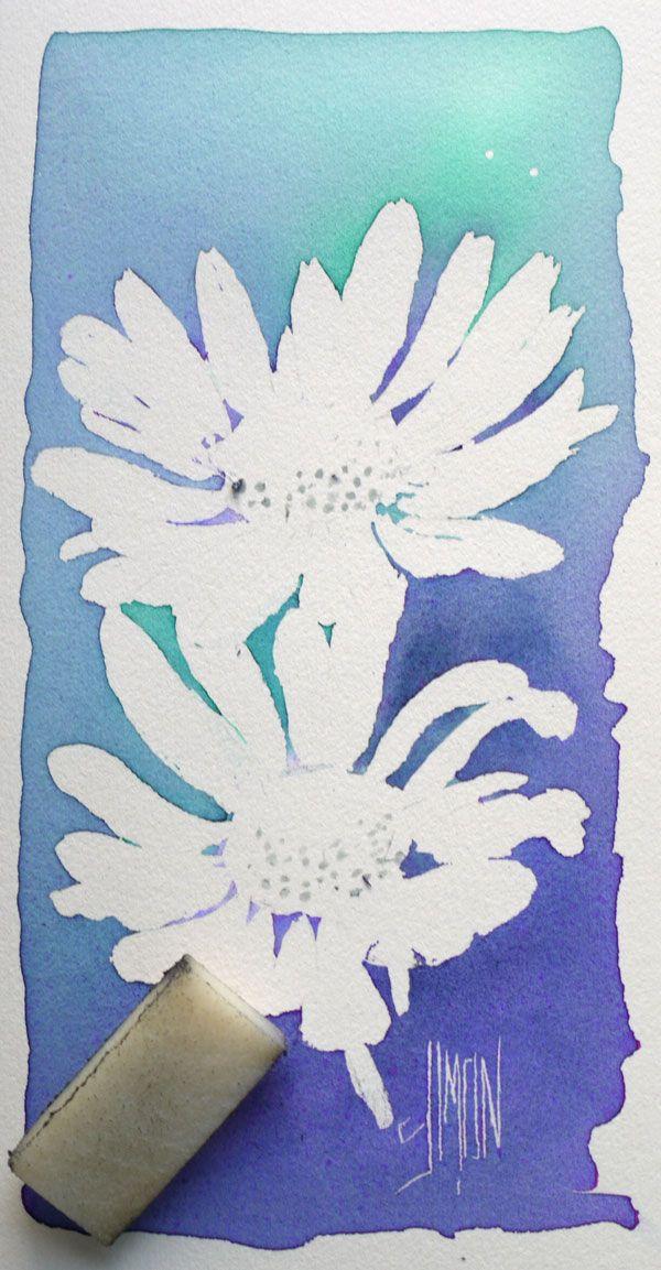Aquarelle Art Astuces Drawing Gum Finale Retrait Drawing
