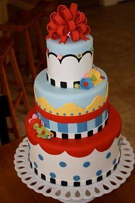 A Mary Engelbreit cake