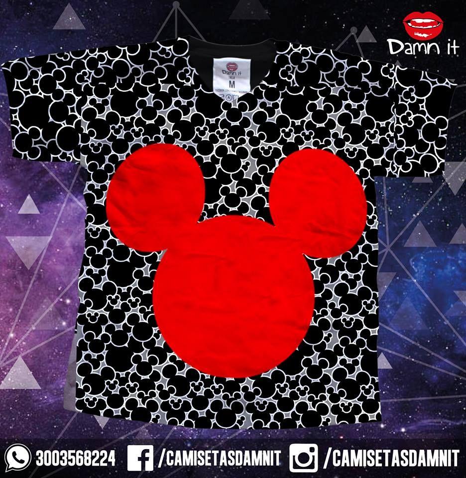 Camiseta Mickey https://www.facebook.com/CamisetasDamnit