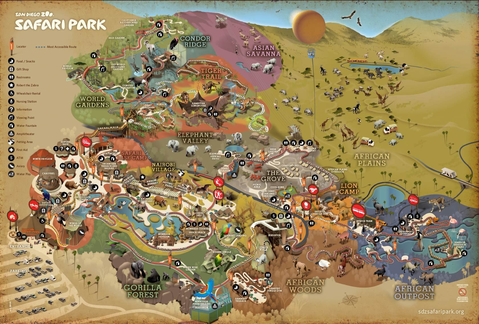 Park Map | San Diego Zoo Safari Park | Travel-Been There