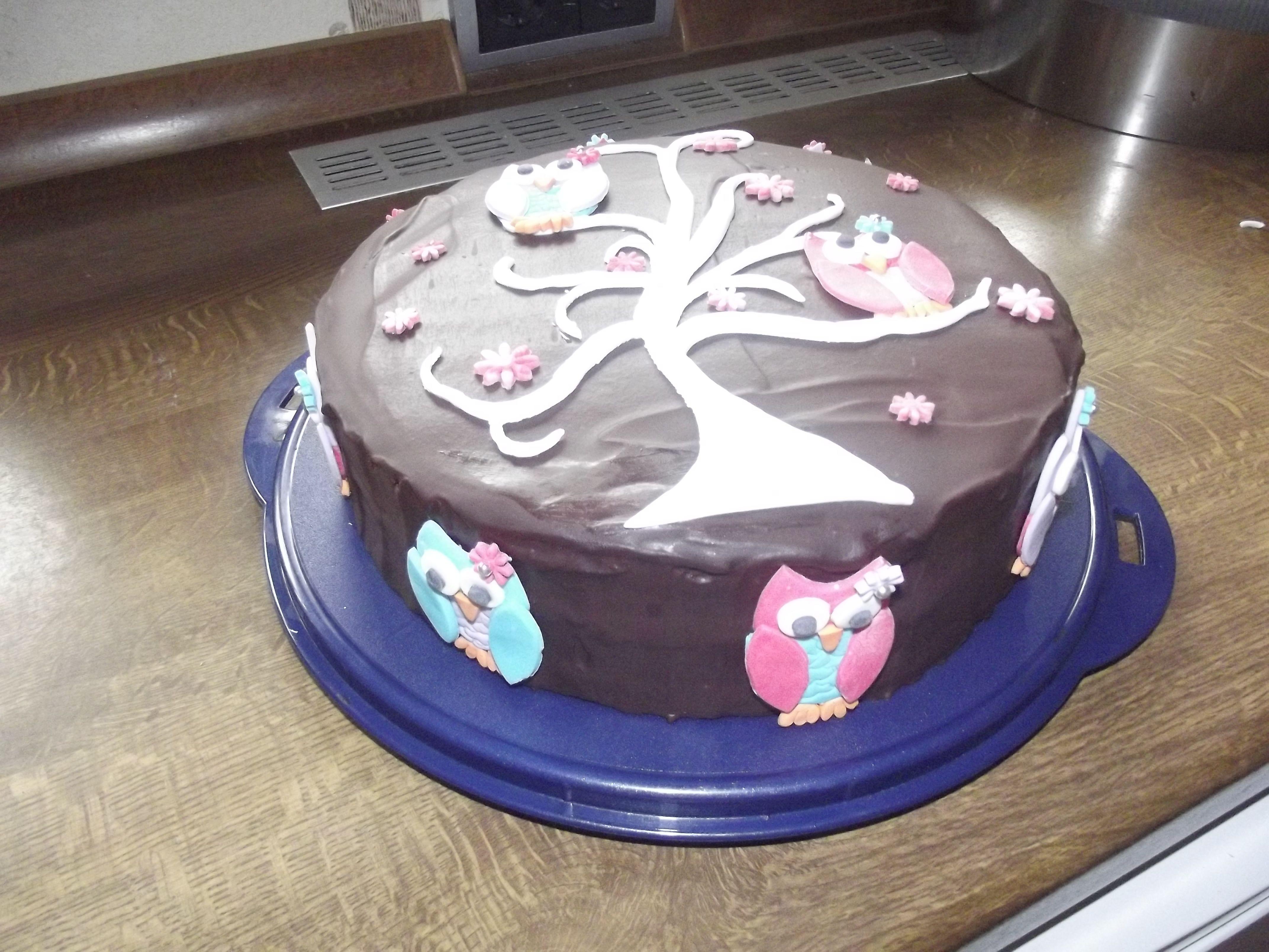 Schoko torte mit fondantuberzug