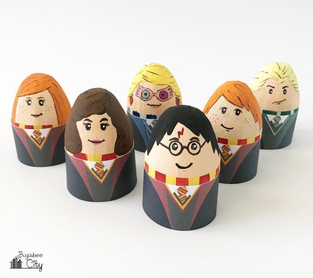 Printable Egg Holders For Harry Potter Easter Eggs Harry Potter Easter Eggs Unique Easter Eggs Easter Egg Designs