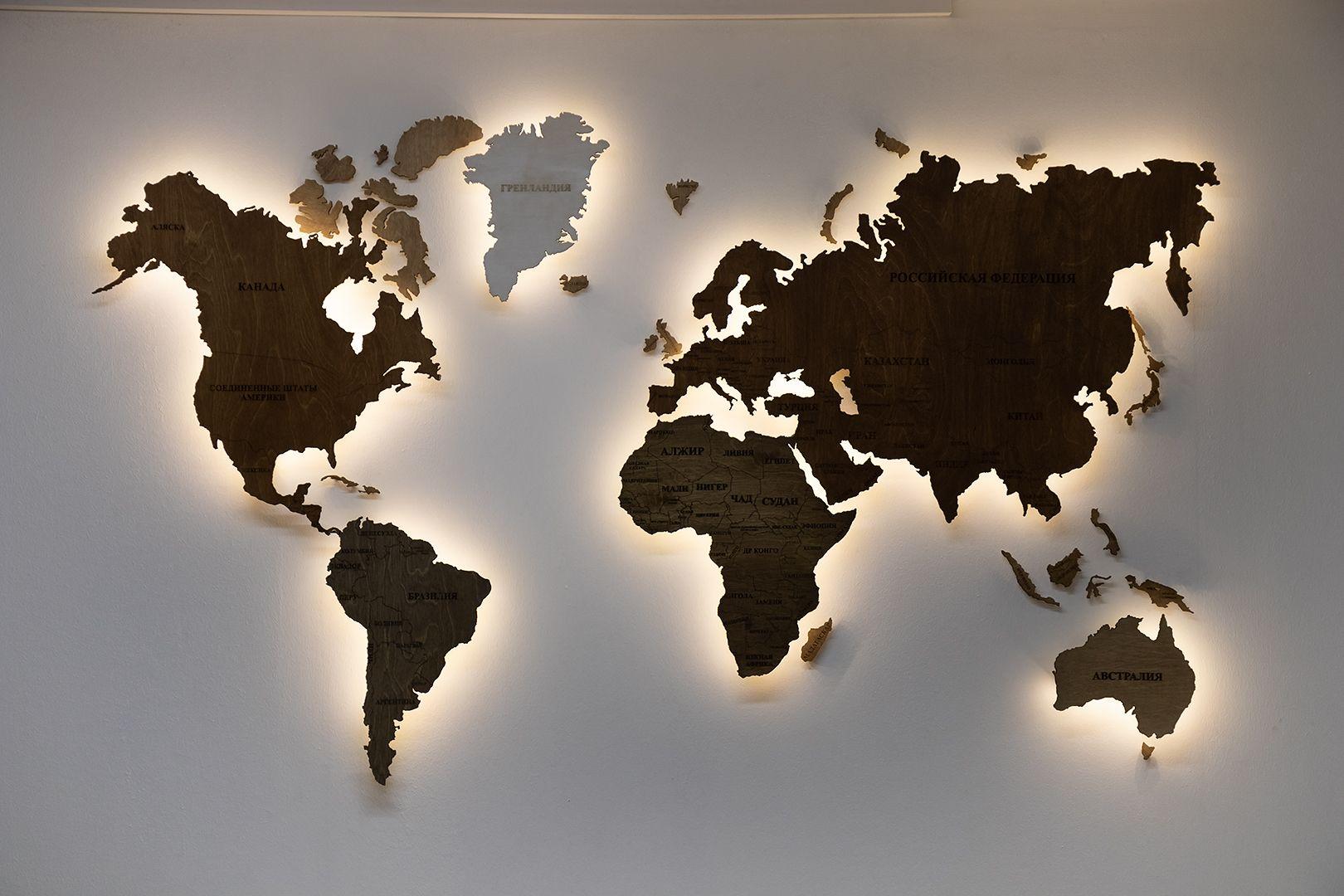 Пробковая карта | Карта мира на стене, Настенные карты ...