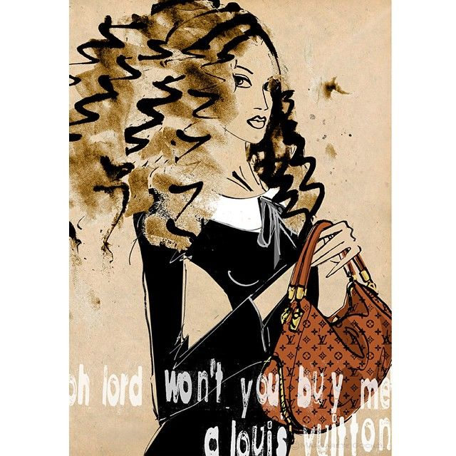 #louisvuitton #ohlord #janisjoplin #vuittonbag #fashionillustration #mercedesbenz #hair #beautyillustration