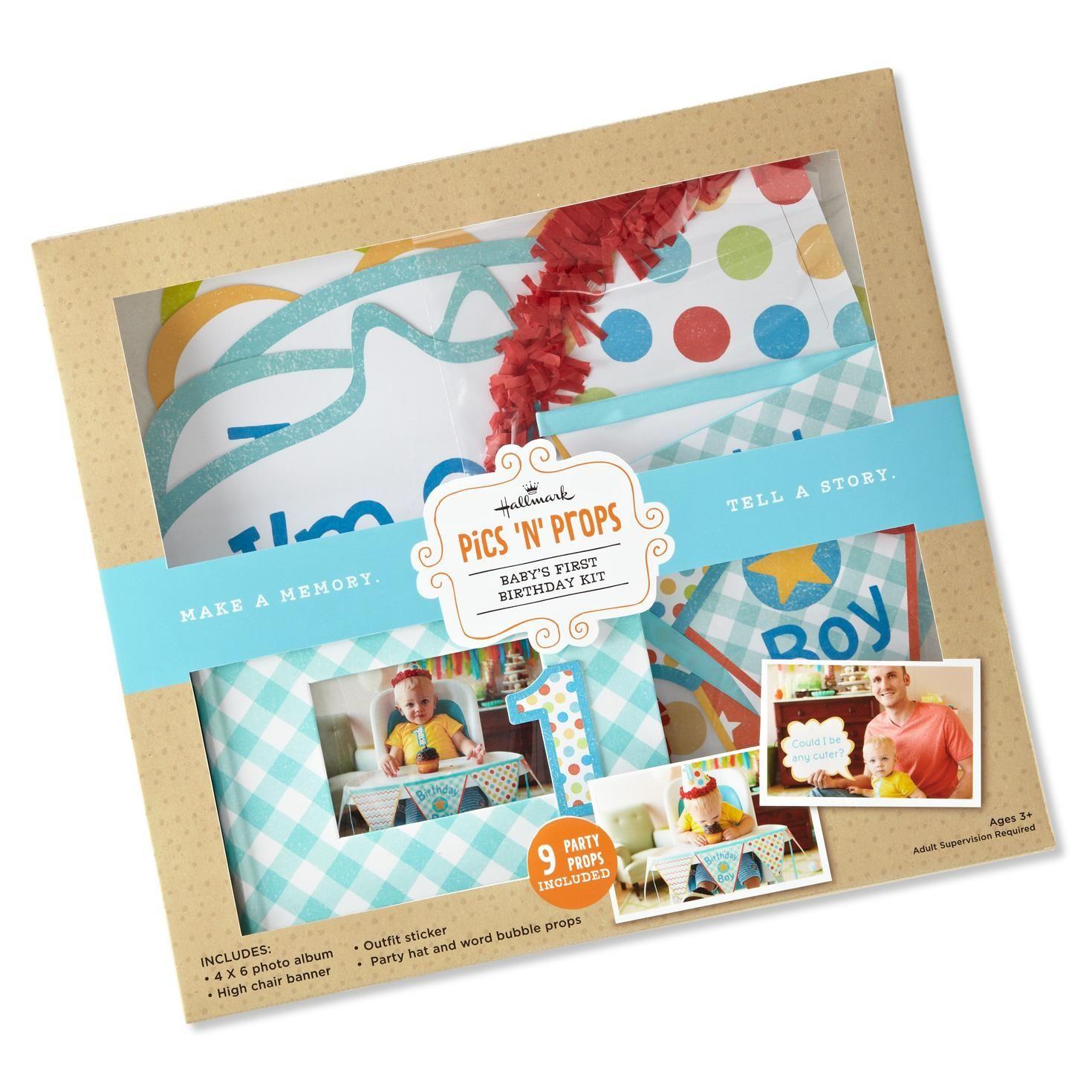 boy first birthday kit baby scrapbook hallmark von wyatts 1st