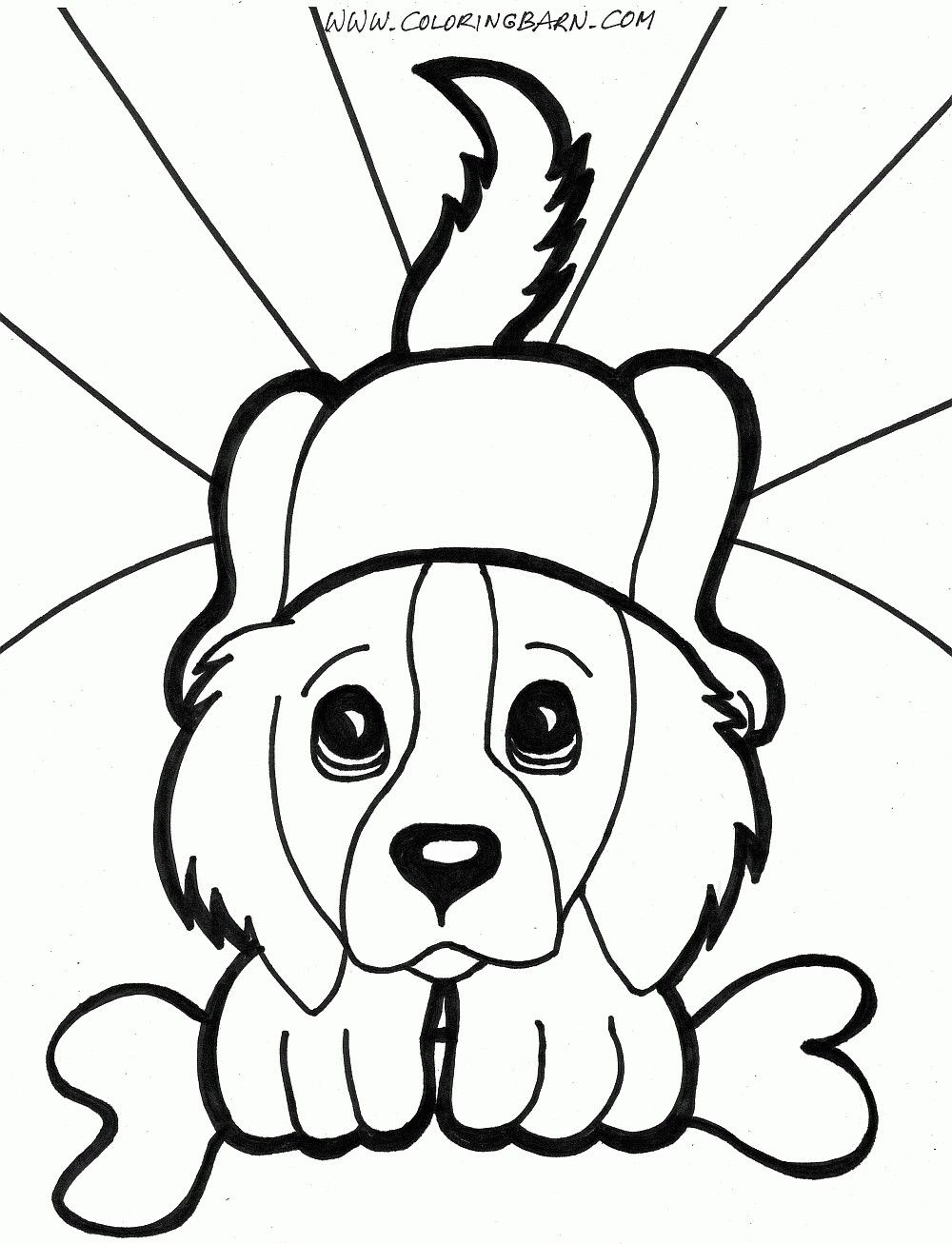 Printable Coloring Pages Puppies - Paul\'s House | Kids Act ivies ...