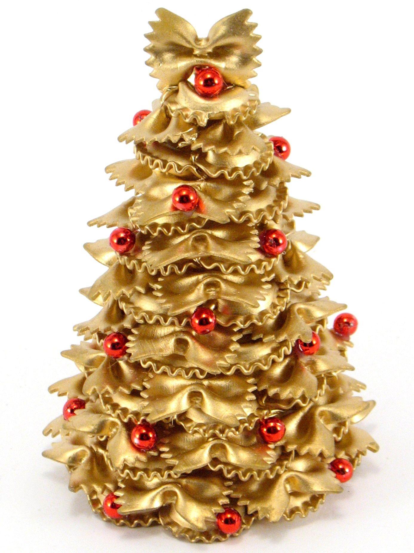 Mala Choinka Z Makaronu Kokardki 15 Cm Dekoracja Swiateczna Handmade Christmas Decorations Easy Christmas Diy Christmas Wreaths