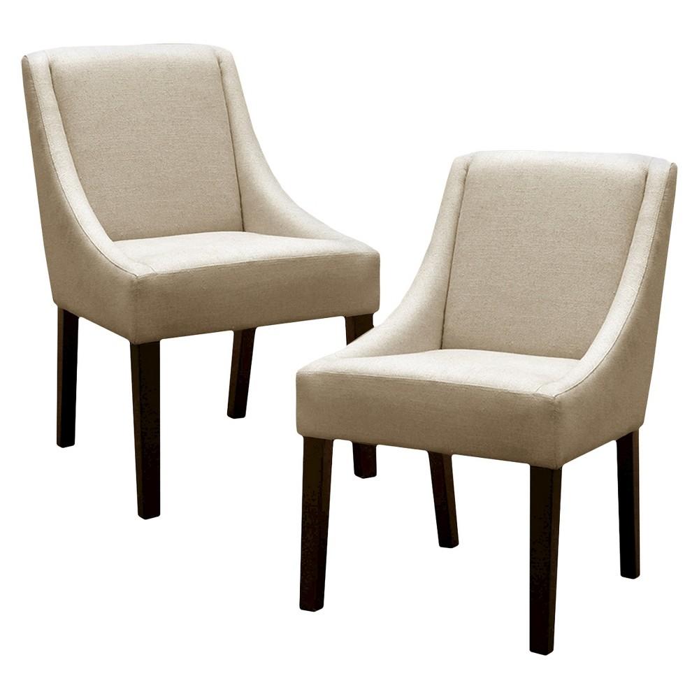 Griffin Linen Dining Chair Sandstone Brown Set Of 2 Skyline Furniture