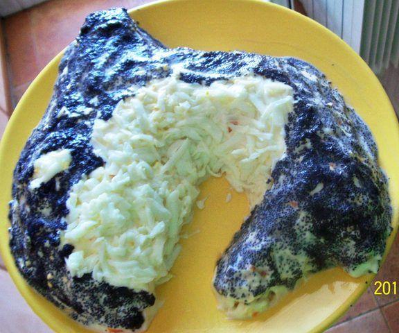 Ensalada de salmón y patatas Mimosa