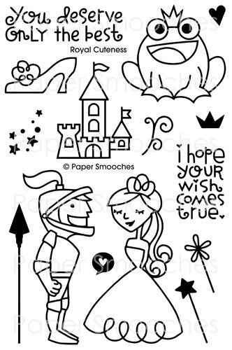 $14.99 Royal Cuteness stamp set from Paper Smooches