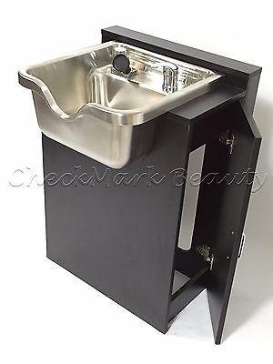 Stainless Steel Shampoo Bowl Sink Cabinet Salon Equipment TLC 1167 SS FC