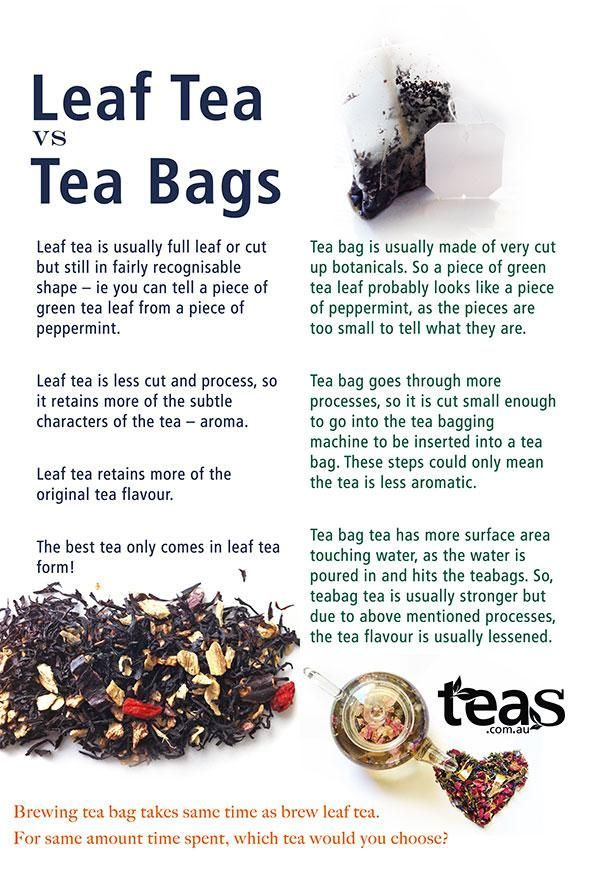 Loose Leaf Tea Vs Bag In 2019 For Colds Homemade