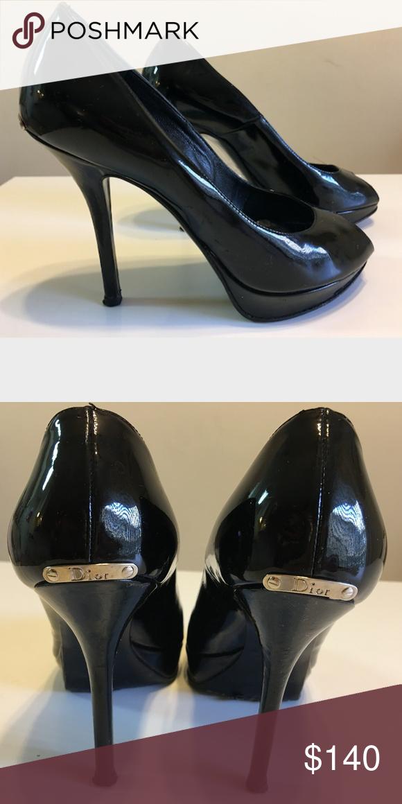 Leather peep toe heels, Peep toe heels