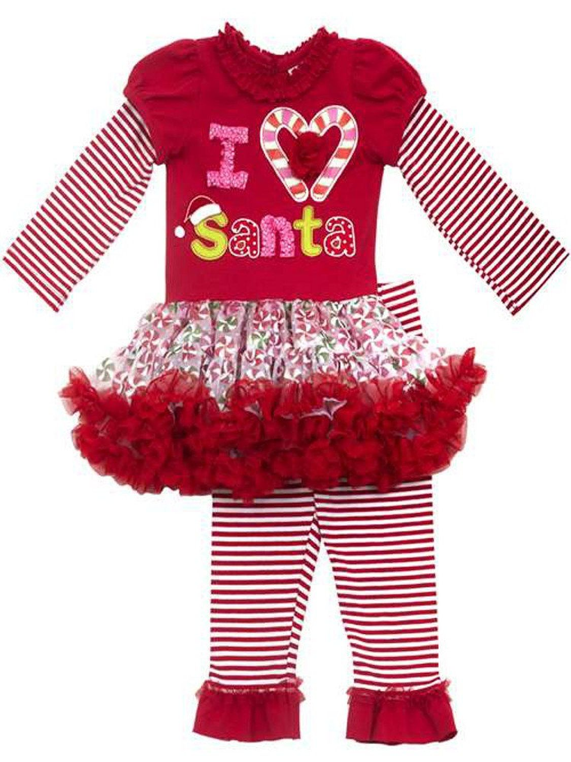 add72e0c2 Little Girls Christmas Outfit - Striped