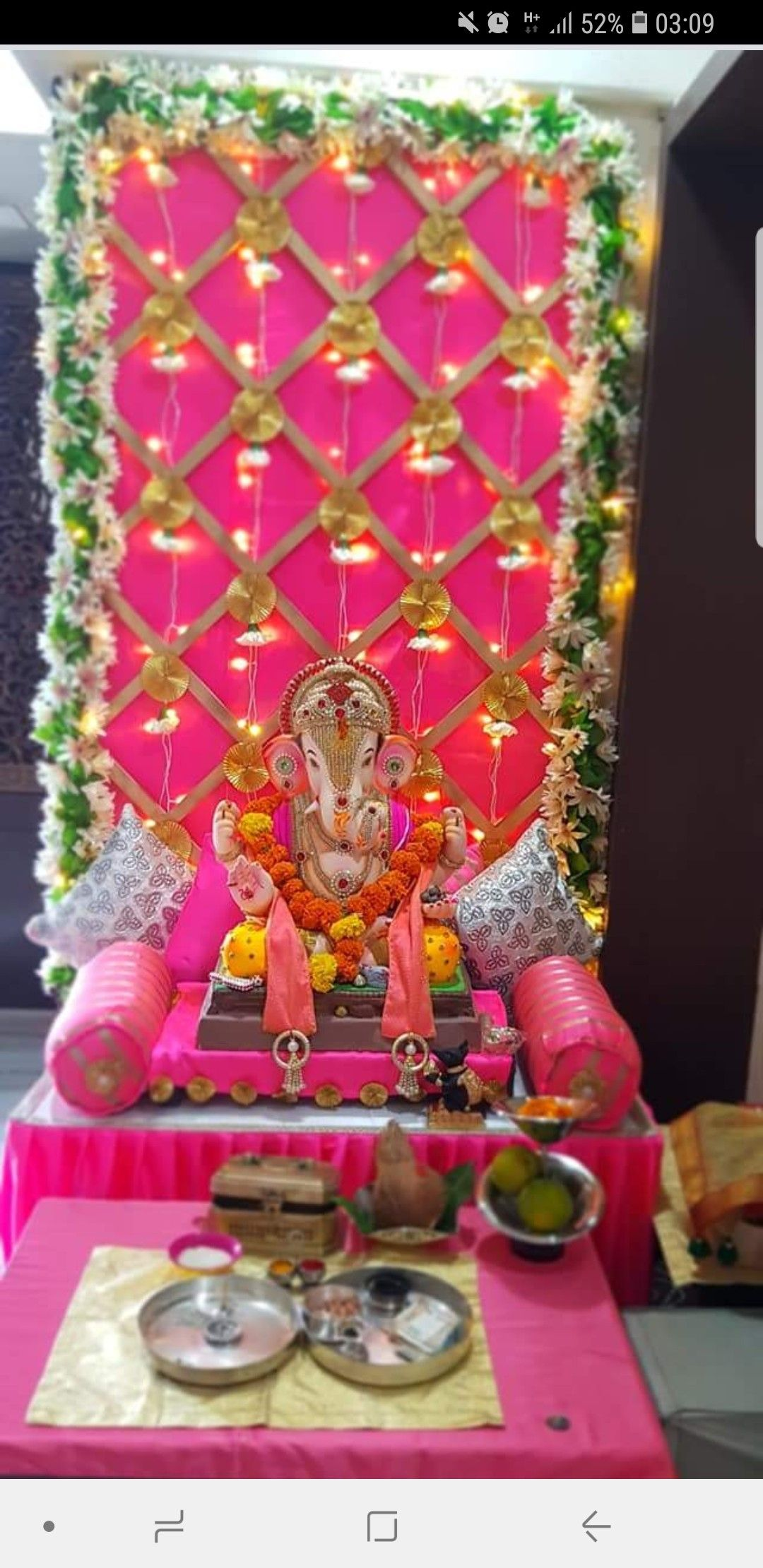 Temple Decor Mandir Decoration Ganpati Design