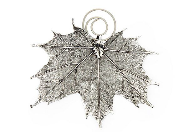 S 4 Maple Leaf Place Card Holders Real Sugar Leaves Are Carefully Preserved In