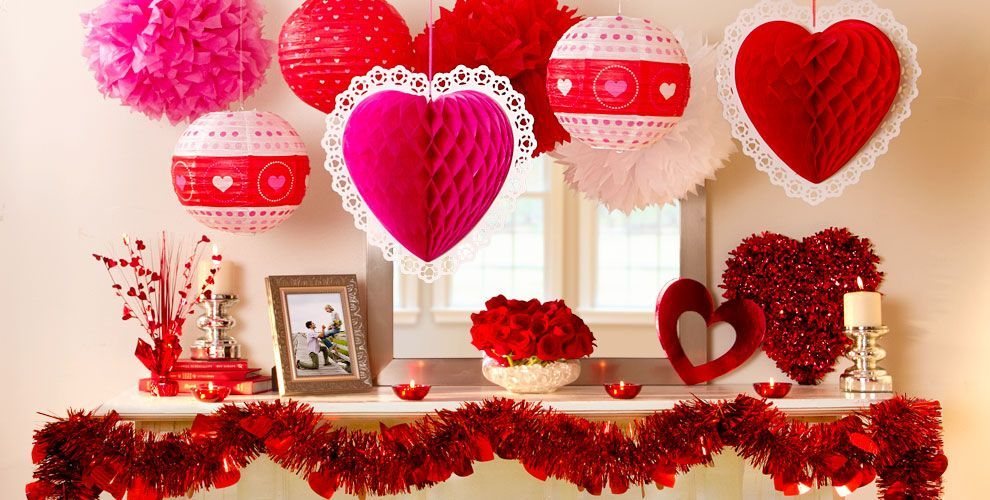 Red Is A Colour Of Love Romance Valentine Cant Be Better Than A Beautiful Red Decor Valentine Decorations Valentines Day Decorations Valentines Party Decor