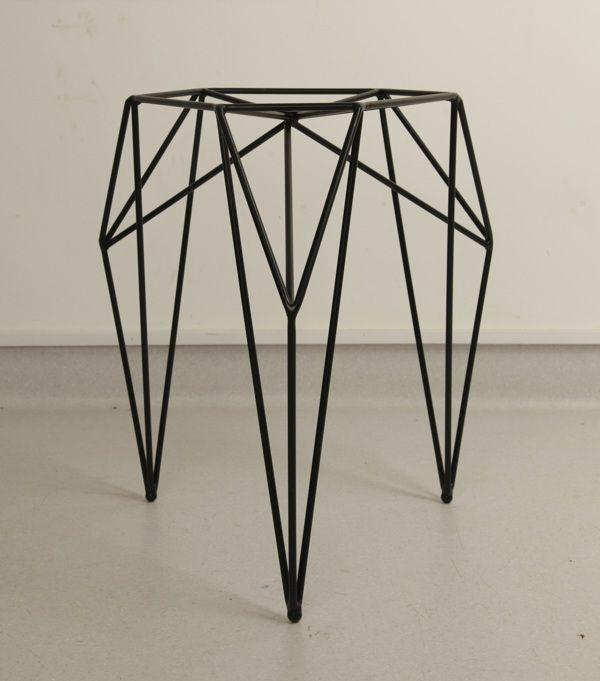 """ STOOL / 2013. A stool made of steel rods and powder coated. By Olga Szymańska in cooperation with Joanna Zaboklicka and Maria Rzeczycka. """