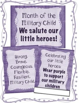 Month of the Military Child Poster and Handout Pack for Elementary ...