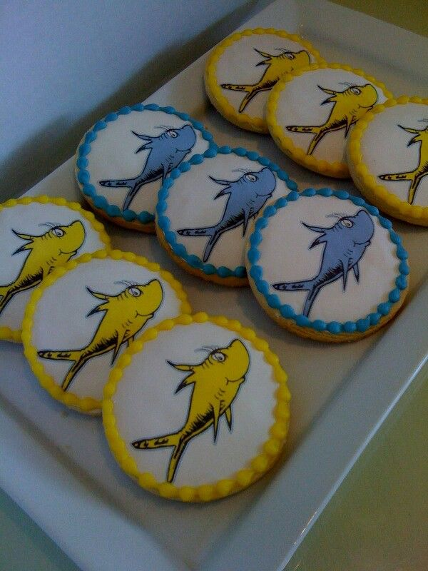Dr. Seuss cookies. One fish, two fish!