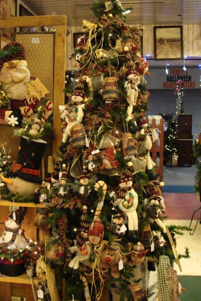 arbol de navidad country - Primitive Christmas Crafts