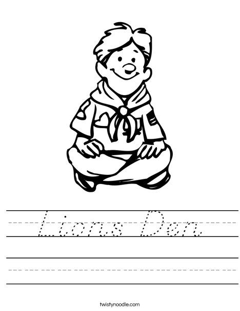 Pin On Lions Den Cubscouts