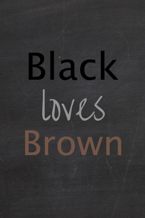 black loves brown