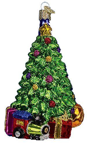 Merck Familys Old World Christmas Ornaments Christmas Morning Tree