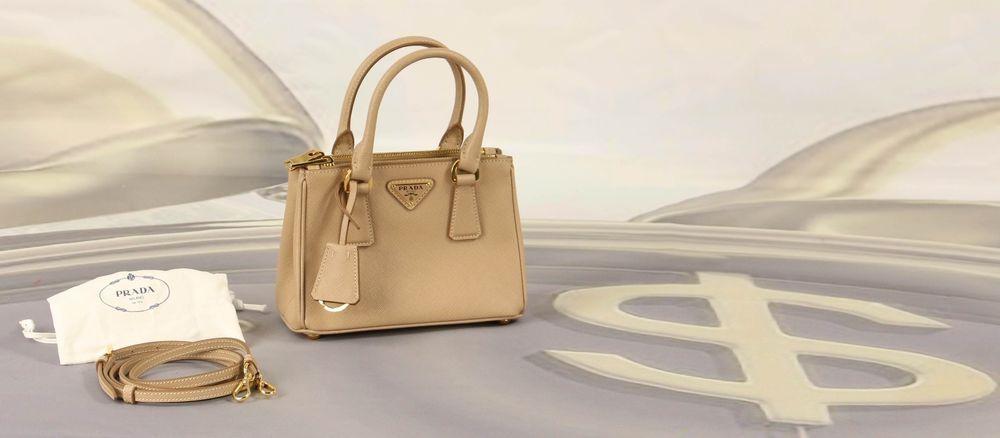 5341792c894f Prada Saffiano Lux Double Zip Bandoliera Mini Top Tote Cammeo Tan Tags  1BH907NZV #prada #shoulderbag #money #handbag #guccigang
