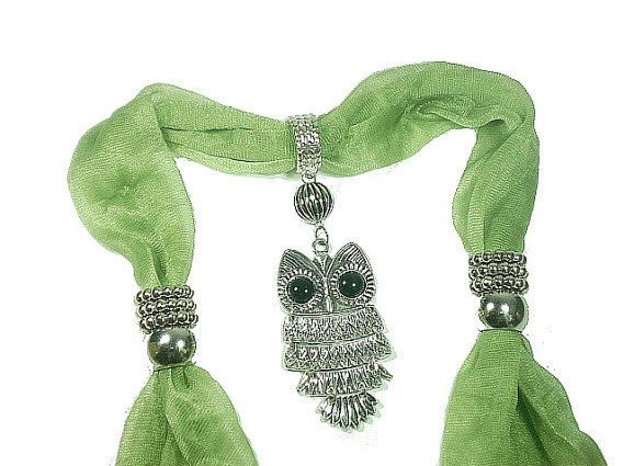 New Arrival Free Shipping Stylish Scarf Jewelry With Owl Metal SCarf  Pendant  4 Color Available Sold Whole Set