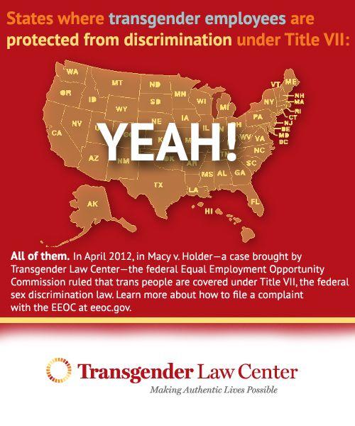 Eeoc Ruling  Transgender Infographics    Transgender