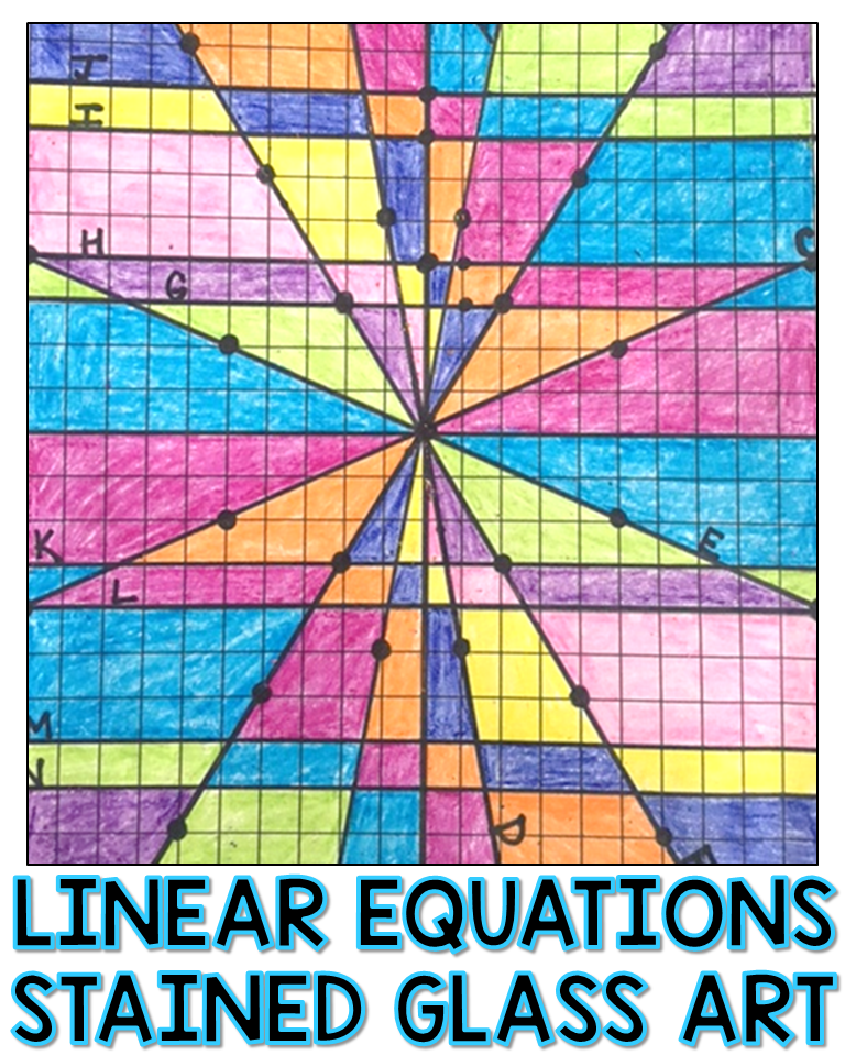 Stained Glass Slope Graphing Linear Equations Worksheet Answer Key : stained, glass, slope, graphing, linear, equations, worksheet, answer, Linear, Equation, Activity, Algebra, Grade, Students, Practice, Graphing, Writing, Equations,, Equations