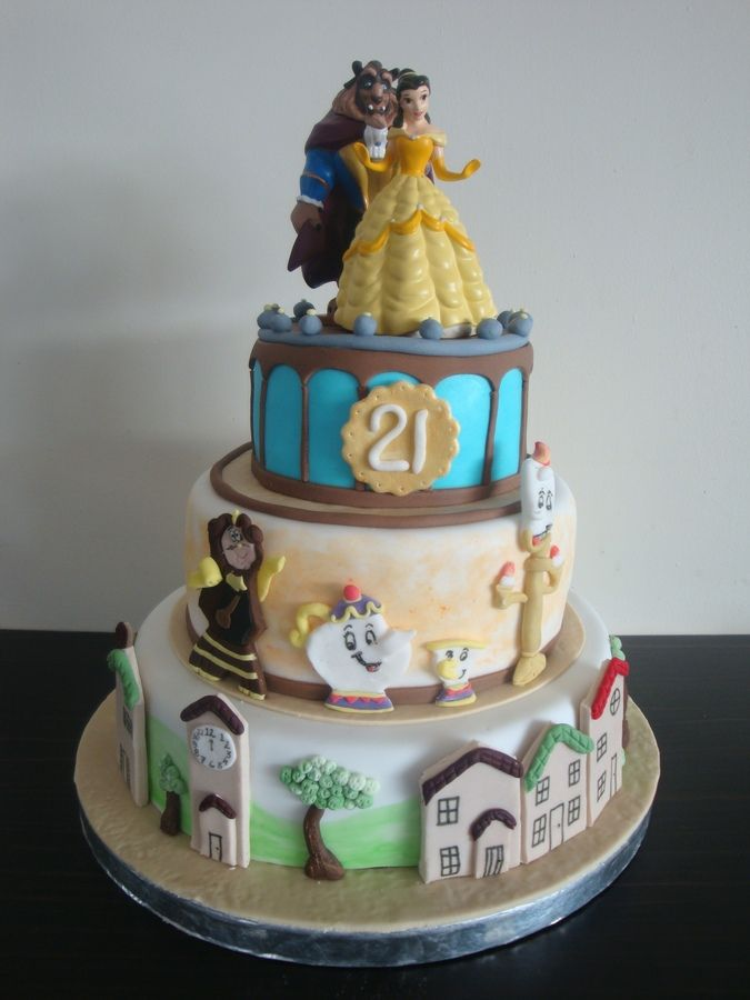 Astonishing Beauty And The Beast Birthday Cake Beauty And The Beast Cake Personalised Birthday Cards Paralily Jamesorg