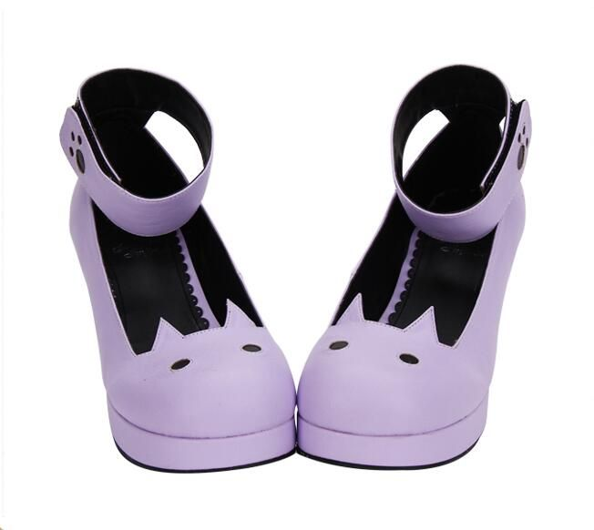 77d2d9e653b3d Lolita Cute Cat Heeled Shoes Free Ship in 2019 | Shoes | Goth shoes ...