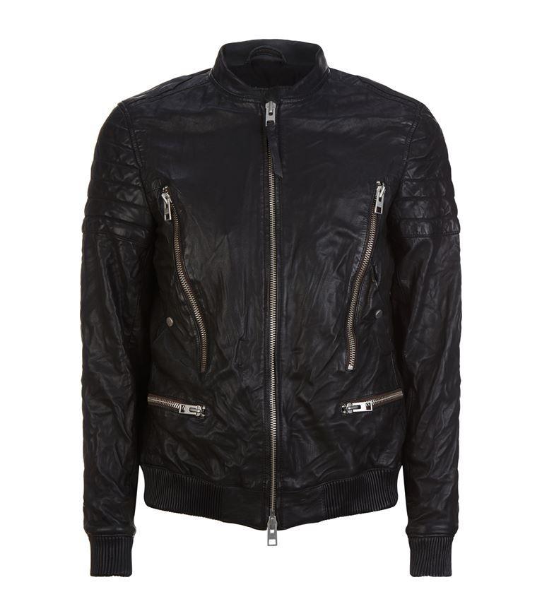 336831c34 ALLSAINTS Sanderson Leather Bomber Jacket. #allsaints #cloth ...