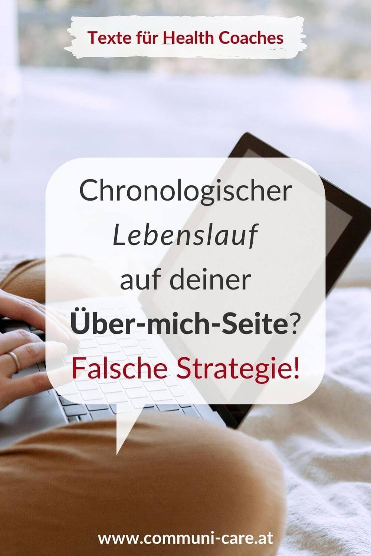 Uber Mich Seite Warum Ein Chronologischer Lebenslauf Die Falsche Strategie Ist Lebenslauf Website Gestalten Homepage Gestalten