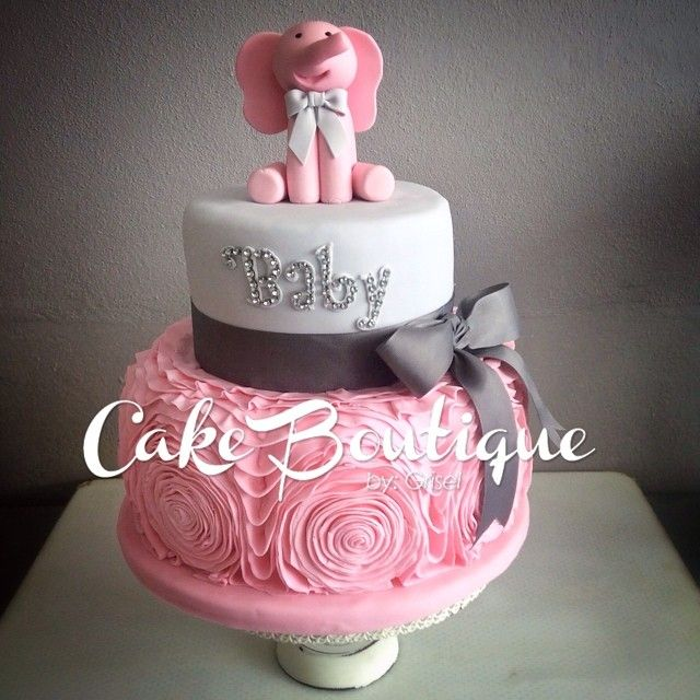 Attractive Bizcochos De Baby Shower Part - 3: Bizcocho - Baby Shower! #cakeboutiquebygrisel #cake #babyshower  #babyshowercake #babypinkelefant #