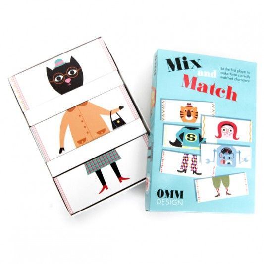 Brand New Mix and Match Game by Ingela P Arrhenius and produced by OMM design available to buy www.retrokids.com