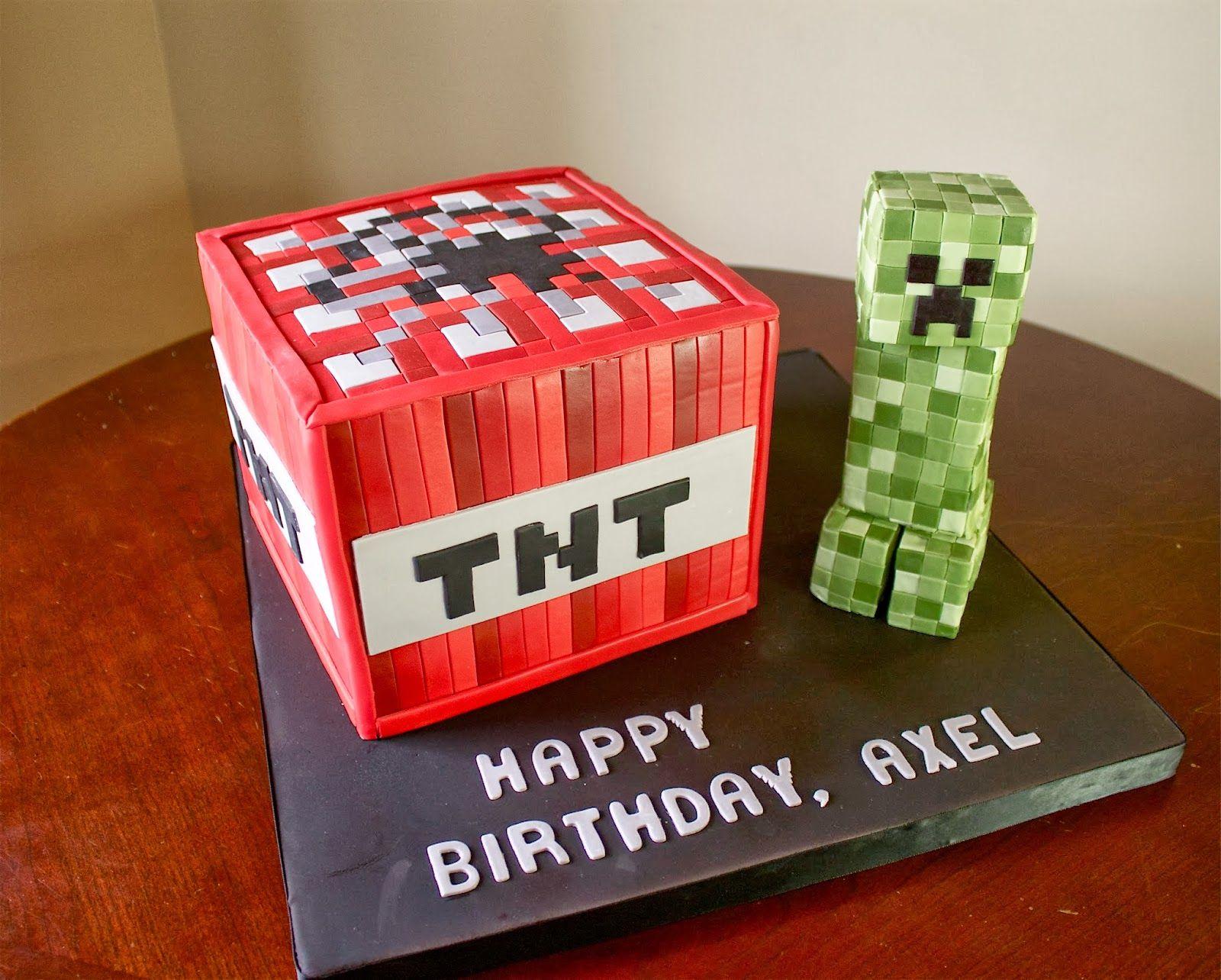 Sara Elizabeth Cakes Sweets Cake Gallery Minecraft Tnt Cake With