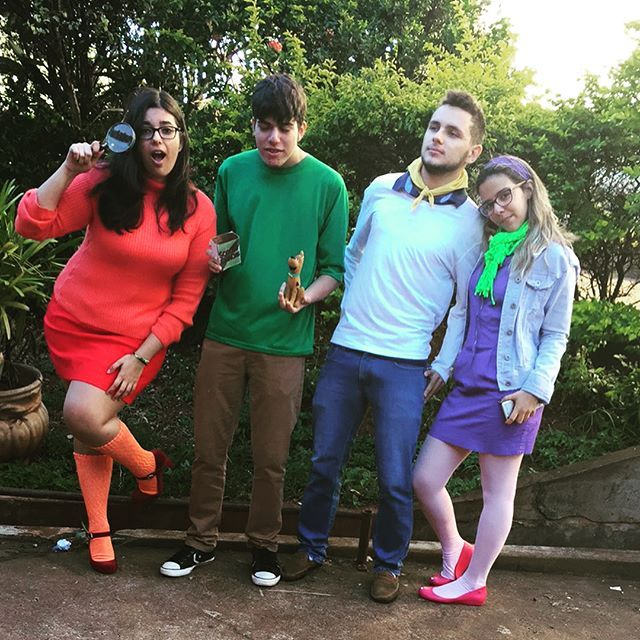 DIY Scooby Doo Velma Shaggy Fred Daphne Halloween Group Costume ...