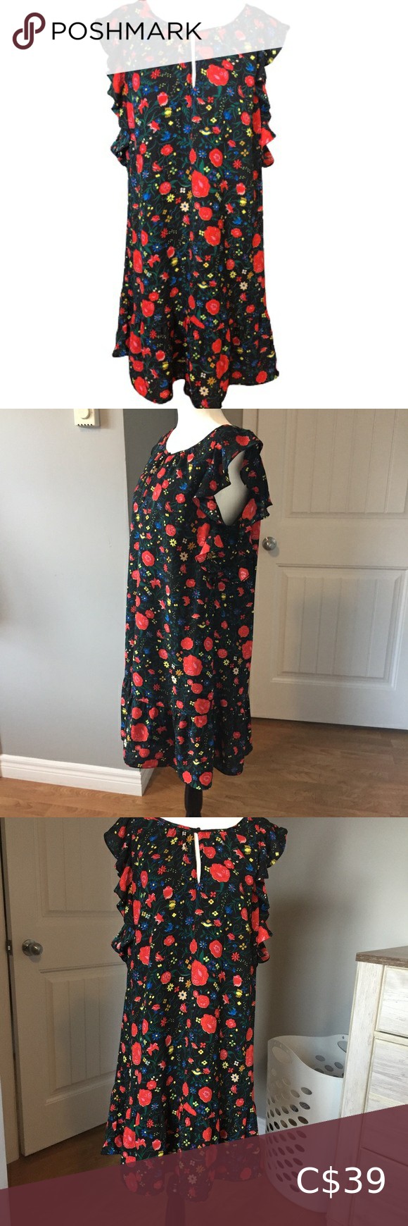 J Crew Floral Mesh Dress