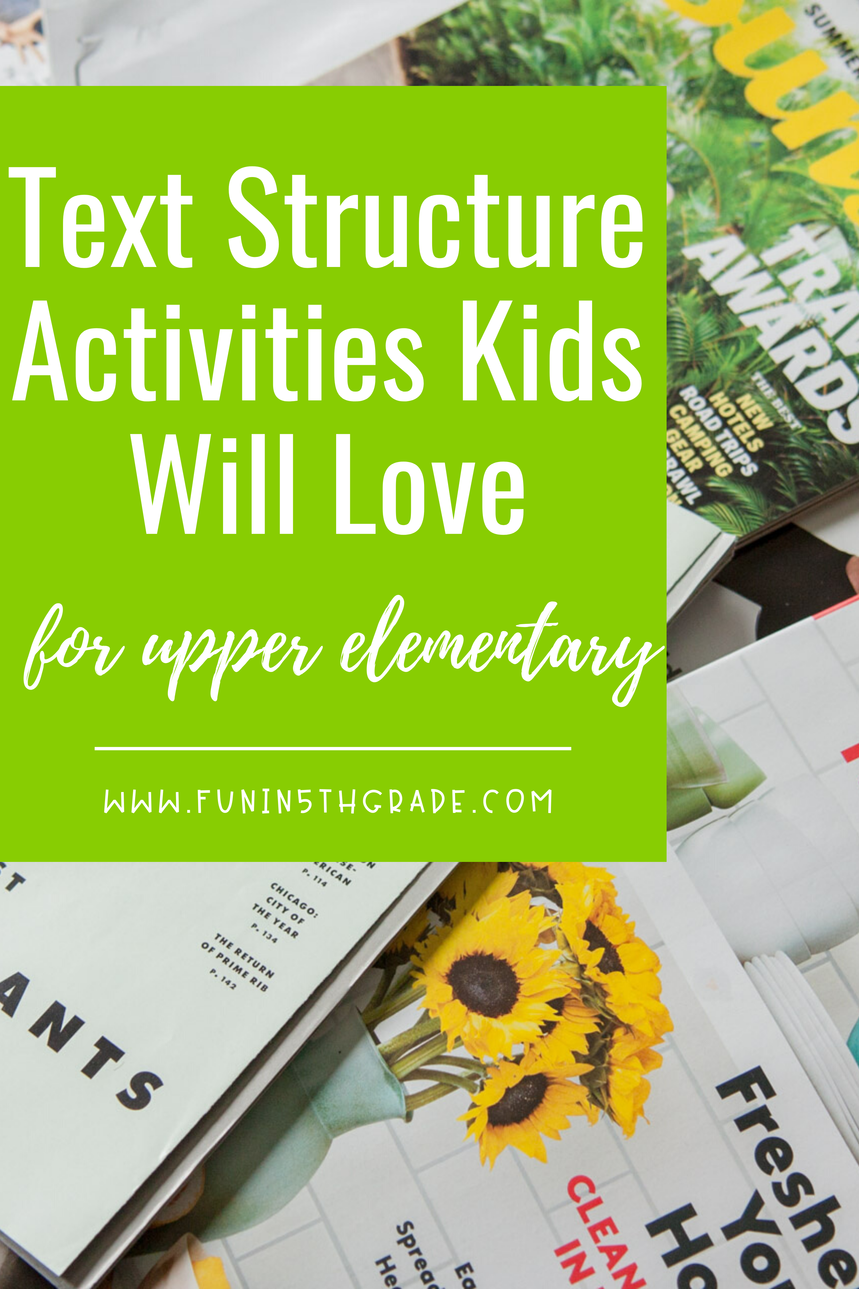 Text Structure Activities Students Will Love In