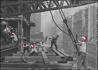 Holiday construction gang glossy white 600 christmas cards build your business with christmas cards for your construction company reheart Image collections