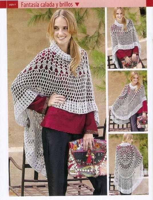 Delicadezas en crochet Gabriela: Ponchos paso a paso   tejido ...