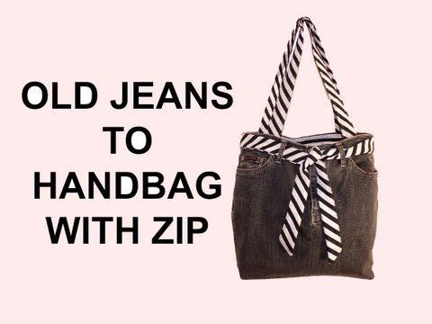 DIY Fashion jean bag (How to make a jean purse with ZIP) DIY Bag Vol 7 - YouTube