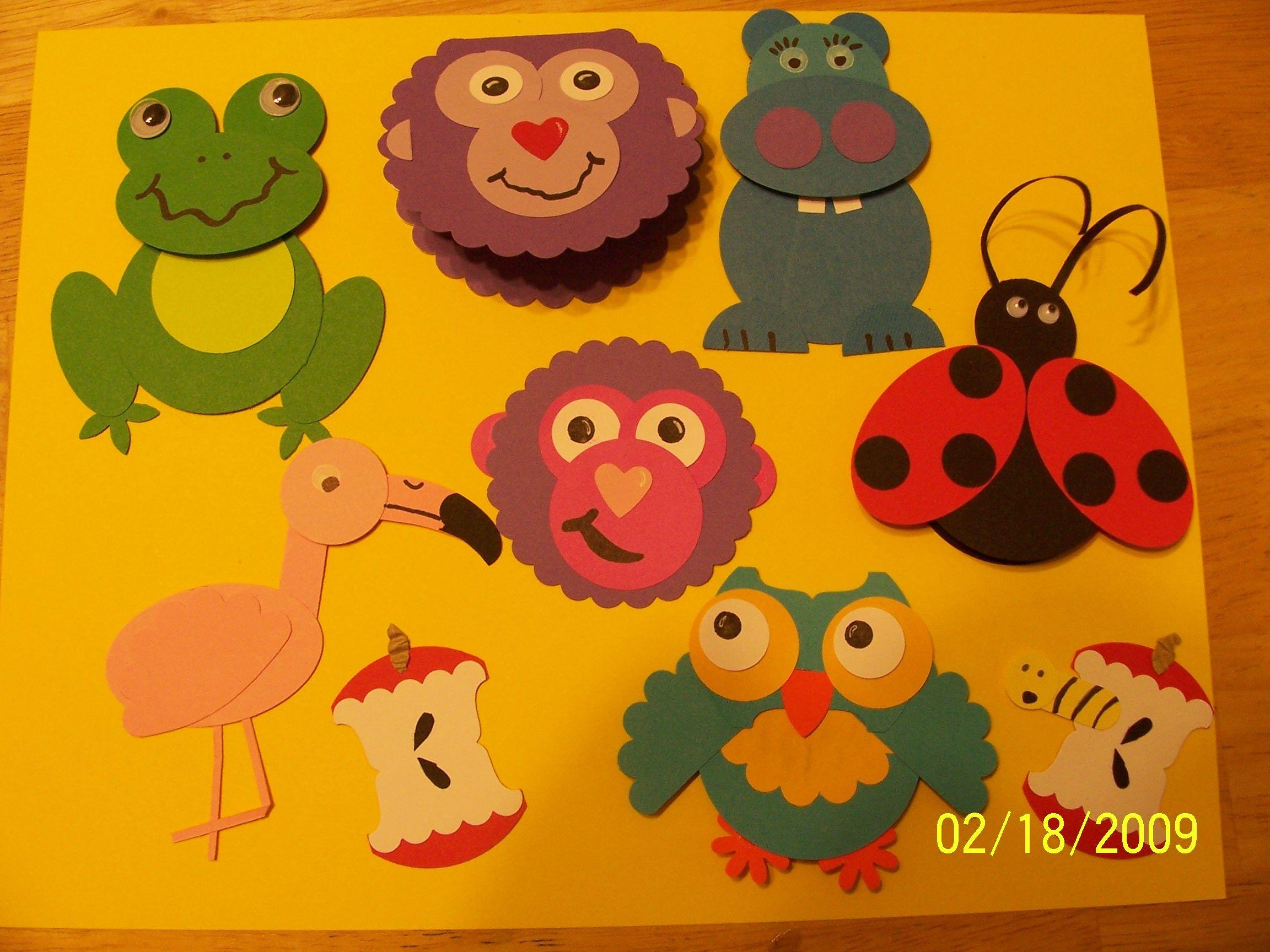 Zoo animal scrapbook ideas - Animals Made From Circles By Loristupke01 26 Feb 09