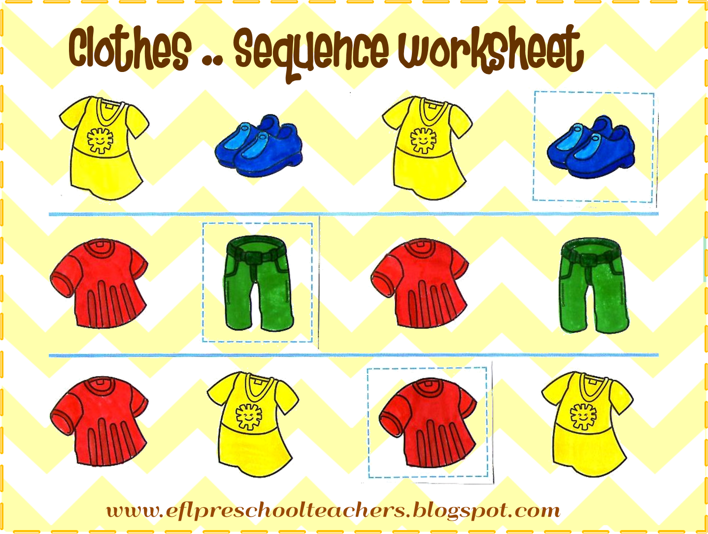 Repetition Worksheet Elementary