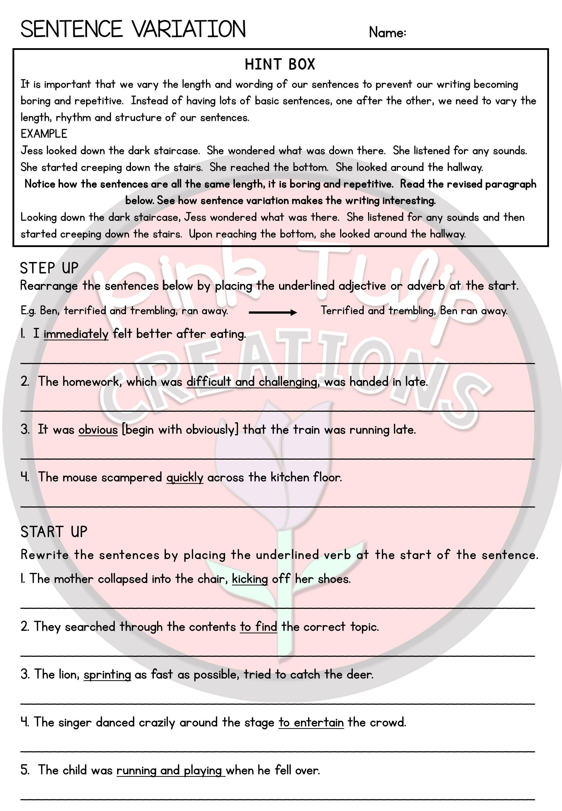 Grammar Worksheet Pack Grammar Worksheets Middle School Writing Activities English Teaching Materials [ 3250 x 2250 Pixel ]